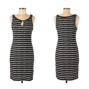 Max Studio Navy + White Stripe Mini Dress
